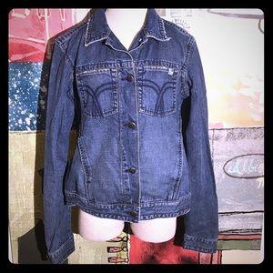 Button front denim jacket